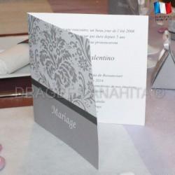 Faire part + envoloppe mariage baroque