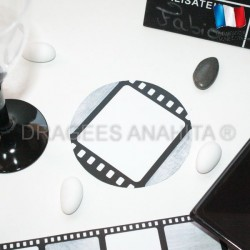 Sous  verre thème cinéma