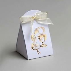 Pochette à dragées Calice blanc