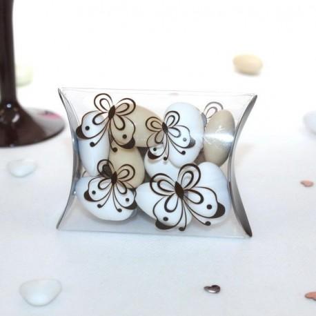 Pochette à dragées Papillons chocolat