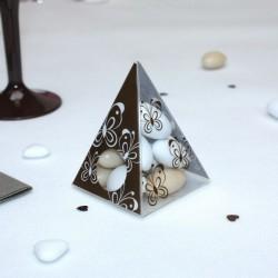 Pyramide à dragées Papillons chocolat