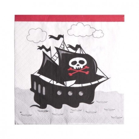 Serviette de table Pirate x 20