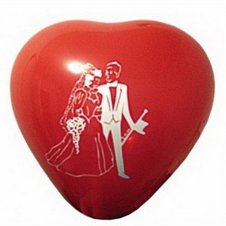 Ballon rouge coeur mariage x 6