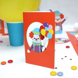 Carte Invitation Clown