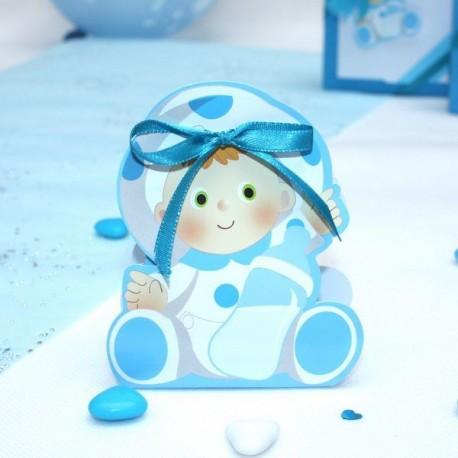 Contenant à dragées Bébé bleu