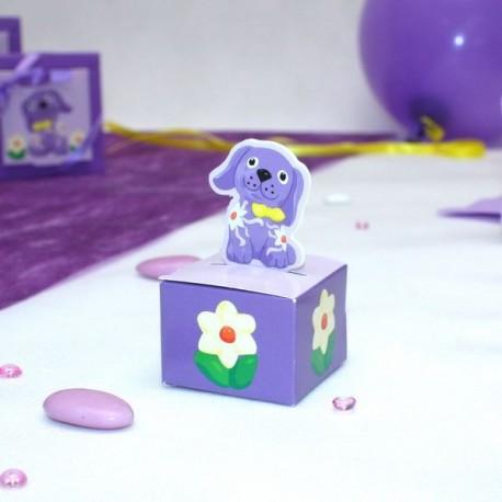 Cube à dragées petit chien