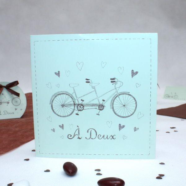 Préférence Faire part mariage Vélo Tandem - Dragées Anahita TT32