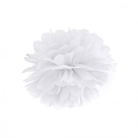 Pompon Blanc 25 cm