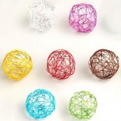 12 Boules de métal de couleur 4 cm