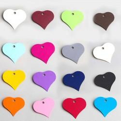 Etiquette à dragées coeur de couleur
