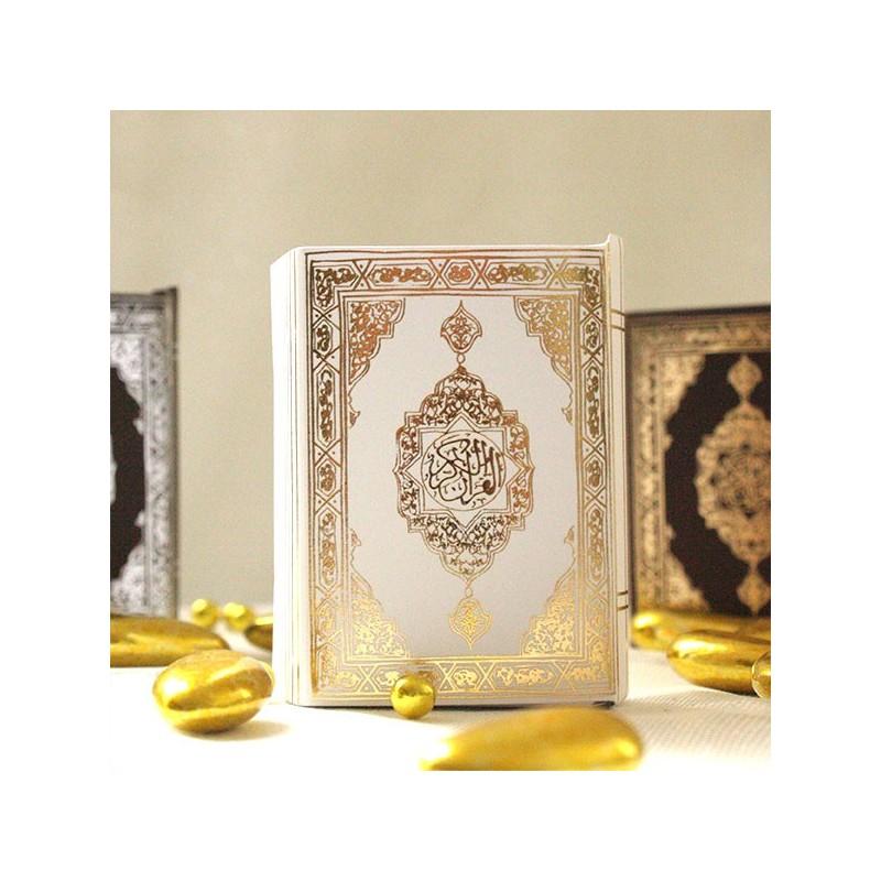 mini coran pour drages blanc et or - Drage Mariage Oriental