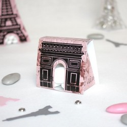Contenant dragées Paris Arc de Triomphe