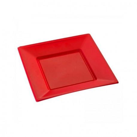 Assiette jetable rouge petite x 12