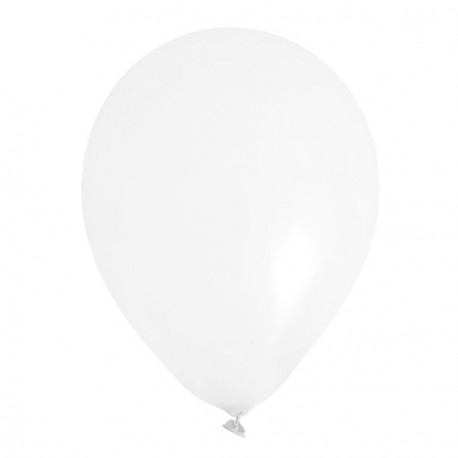 8 Ballons gonflables blanc 25 cm
