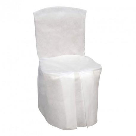 Housse de chaise couleur blanche