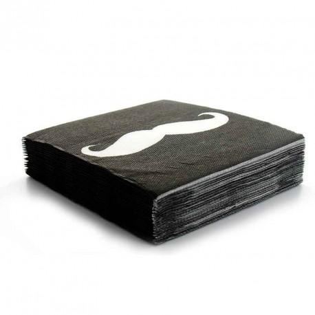 20 Serviettes 3 plis moustache