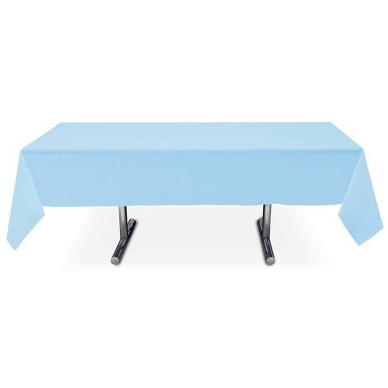 Nappe bleu ciel pas cher de forme rectangulaire en intiss 3 99 - Nappe de table rectangulaire pas cher ...
