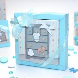 Grande boite à dragées pour naissance commode bébé