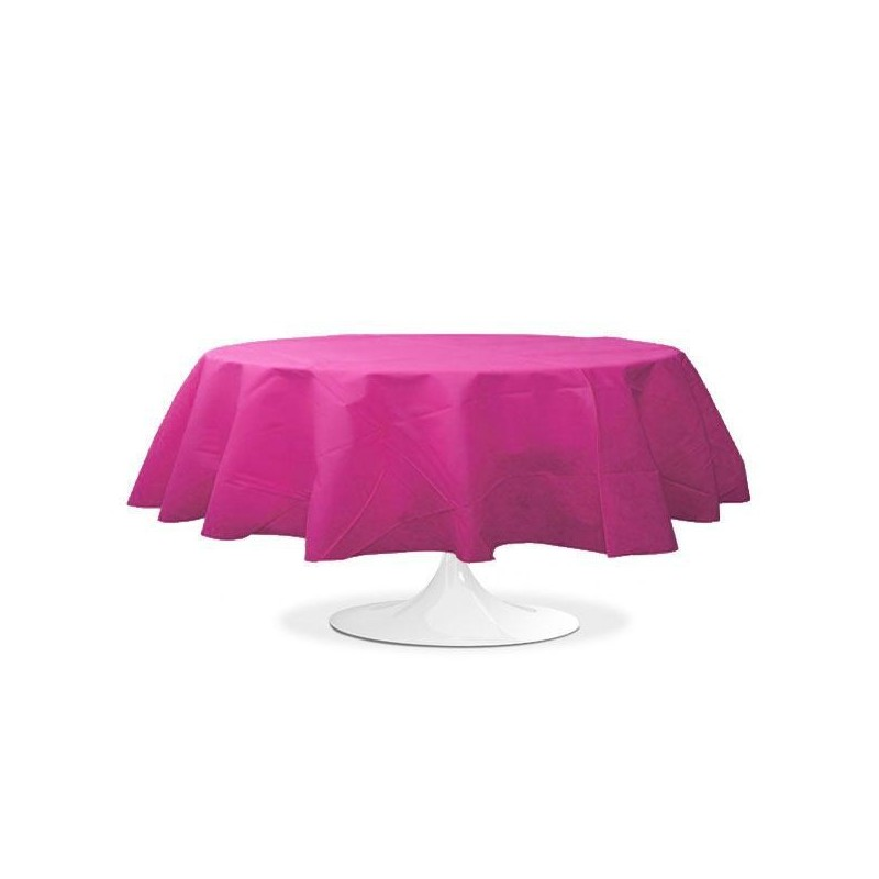 nappe ronde fuchsia 240 cm pas cher drag es anahita. Black Bedroom Furniture Sets. Home Design Ideas
