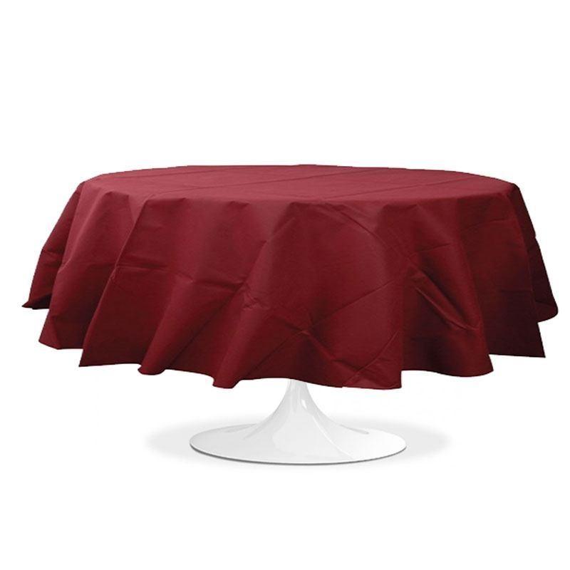 Nappe ronde bordeaux 240 cm pas cher drag es anahita - Chemin de table jetable pas cher ...