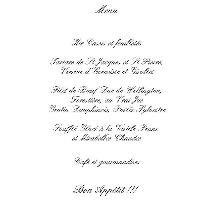 Menu petit ange r veur drag es anahita for Idee de menu original