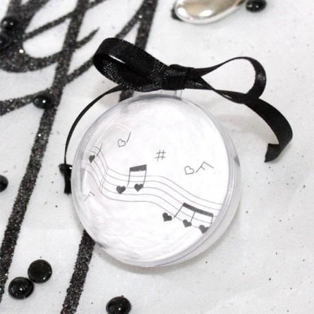 Boule à dragés transparente thème musique