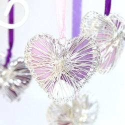 Coeur en métal pour dragées pas cher