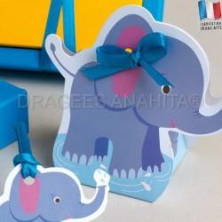 Ballotin à dragées en forme d'éléphant