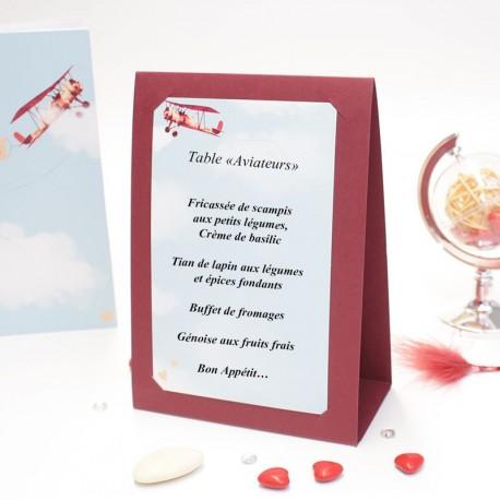 Centre de table thème voyage just maried