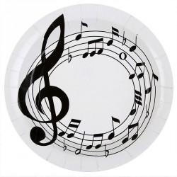 10 Assiettes thème musique